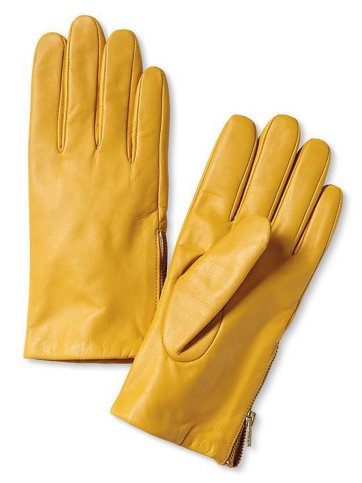 Banana Republic | Leather Zip Glove