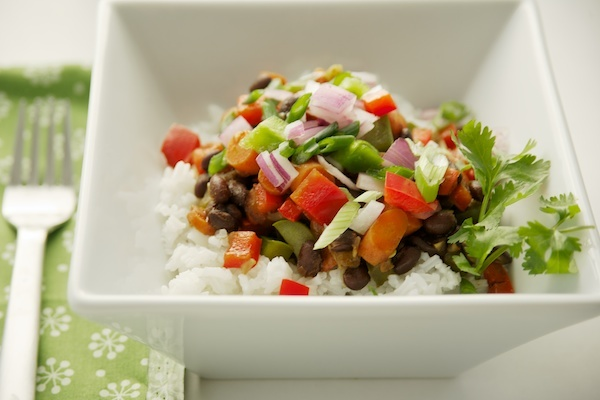 Quick and Healthy Black Beans and Rice {Vegan} @Alicia Fortie I always ...