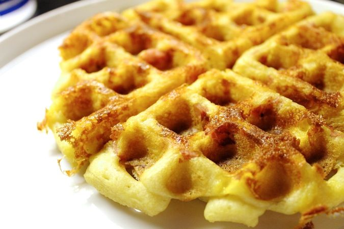 Ham and Cheese Waffles | Nomnom yummie food | Pinterest
