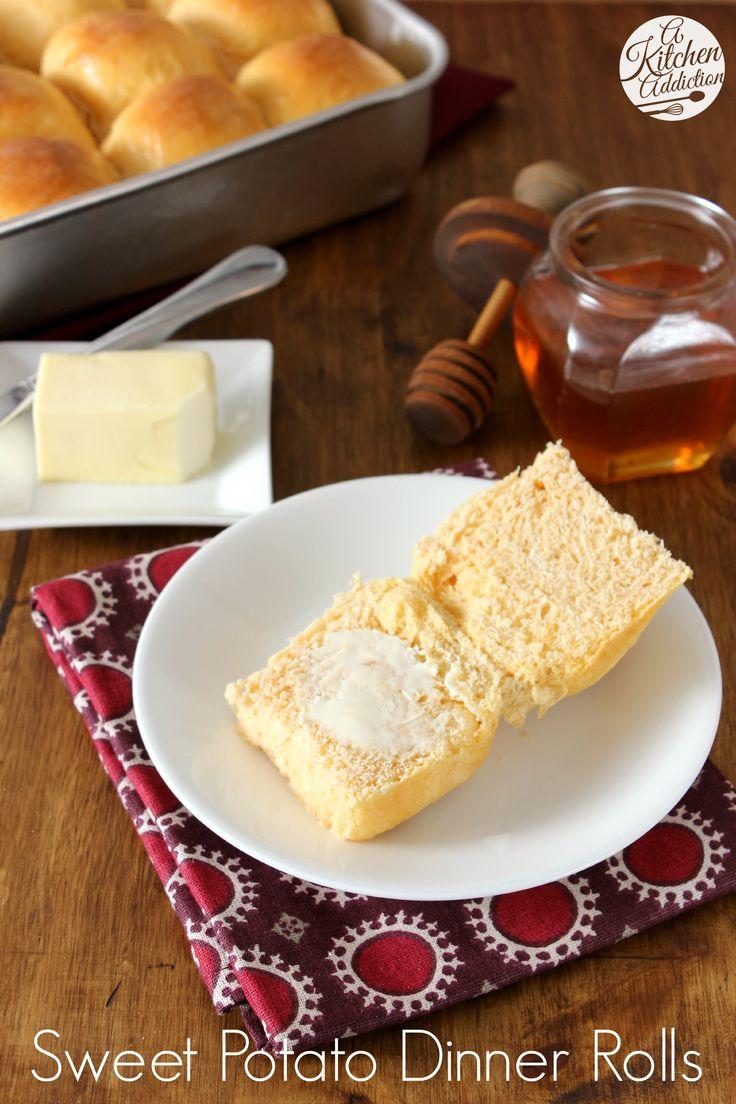 Sweet Potato Dinner Rolls with Honey Butter Glaze from @Jess Liu l A ...