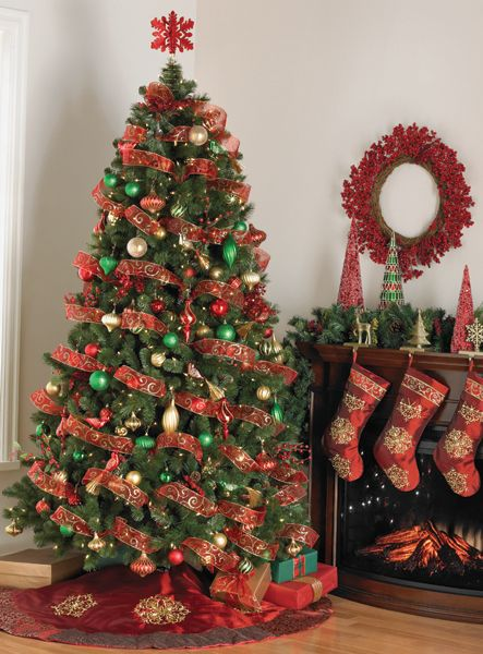 Red And Gold Tree Christmas Tree Pinterest