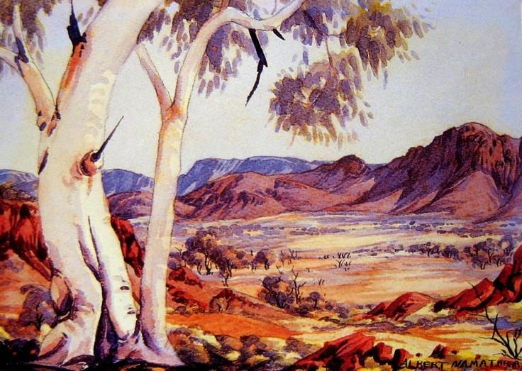 Albert namatjira art pinterest for Australian mural artists