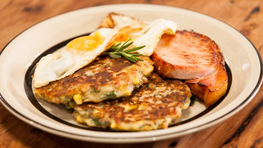 Bacon and Corn Griddle Cakes | Dinner/Lunch/Meals | Pinterest