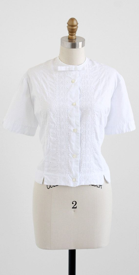 White Cotton Blouse Plus Size 115