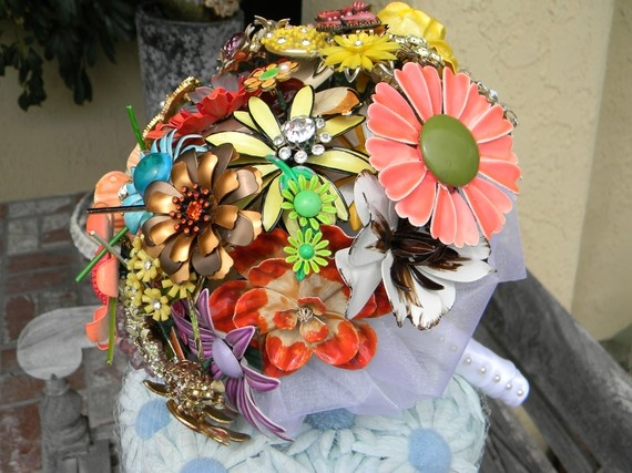 Brouch bouquet by Amanda Heer on Etsy as 1amanda.