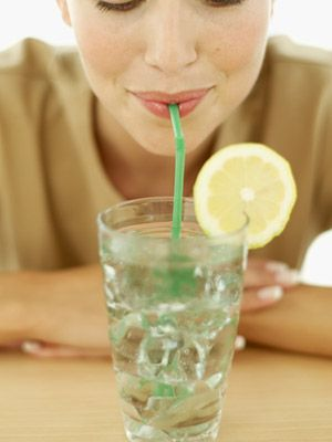 If you think you may not be truly hungry, drink a glass of water first and wait a few minutes. Often, the water will hit the spot if you're only thirsty, but hunger will intensify the longer you wait. #calories #tips #health