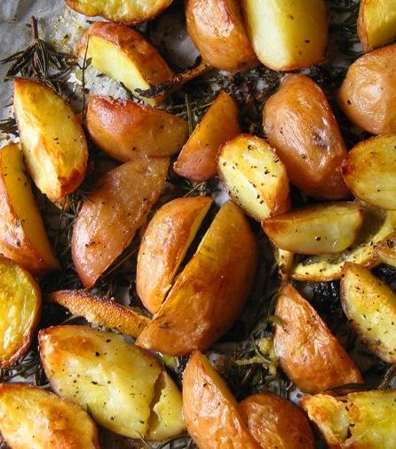 Lemon scented, herbed oven fries! | I Say Potato! | Pinterest