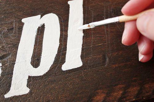 Diy vintage wood sign router