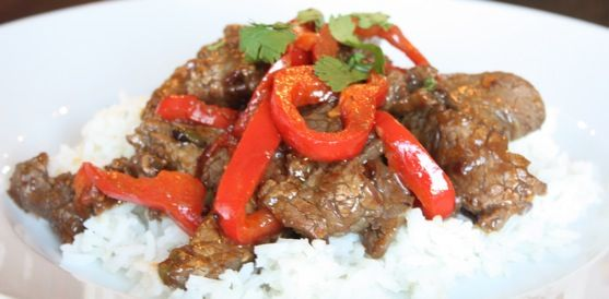 Beef with Peppers | Here's The Beef | Pinterest
