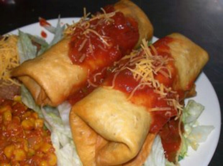 Beef chimichanga   Recipes   Pinterest