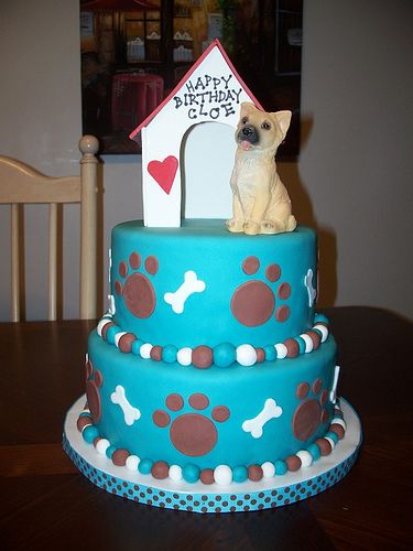 cute dog-themed cake crazy cool cakes Pinterest