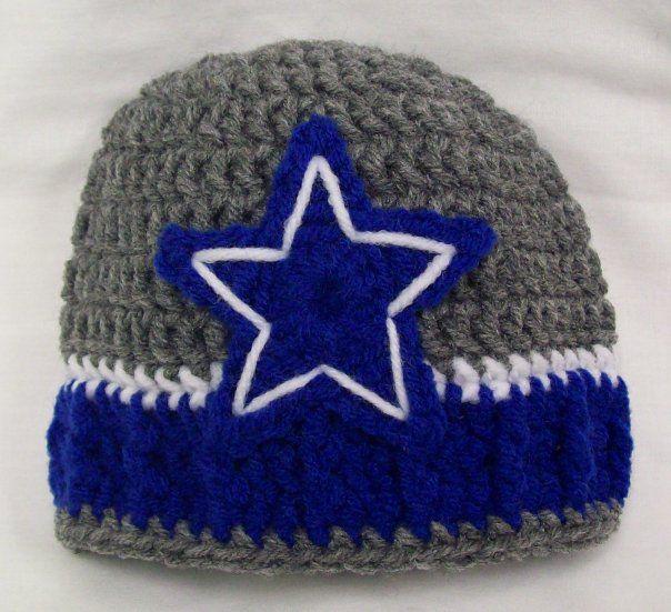 Dallas Cowboys Crochet Baby Hat Pattern : Crocheted Dallas Cowboys hat Crochet Pinterest