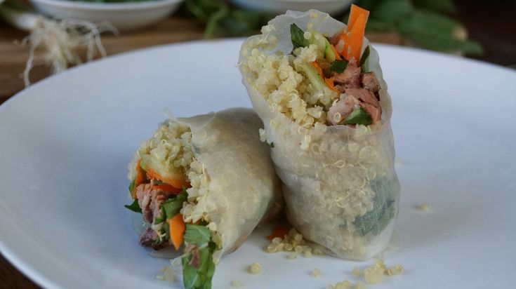 Quinoa Spring Rolls? You Bet! Visit www.rebelgrain.com for the Soy ...