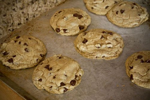 Giant chocolate chip cookies--add 2T flour, only one cup chocolate ...