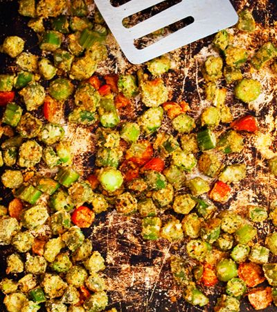 Cajun Spiced Okra | With a Side of... | Pinterest