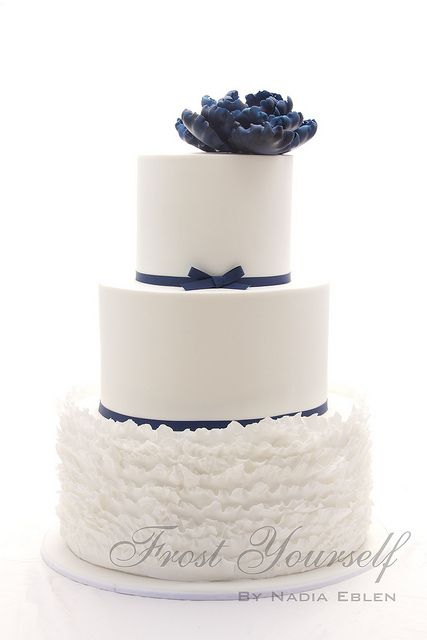 Navy Blue Cake Images : Navy Blue accent cake CAKES: By Colors, Navy Blue ...