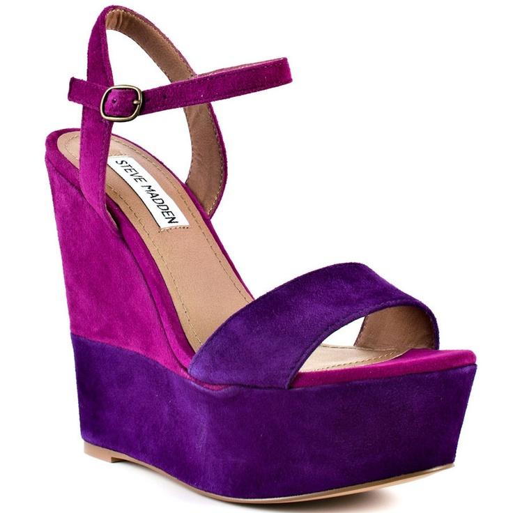 purple wedge shoes pinterest