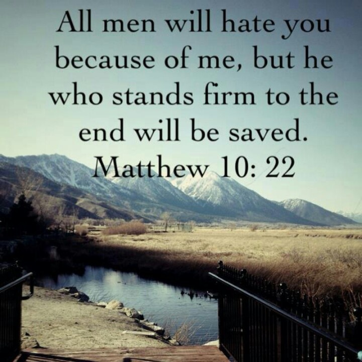 Image result for Matthew 10:22