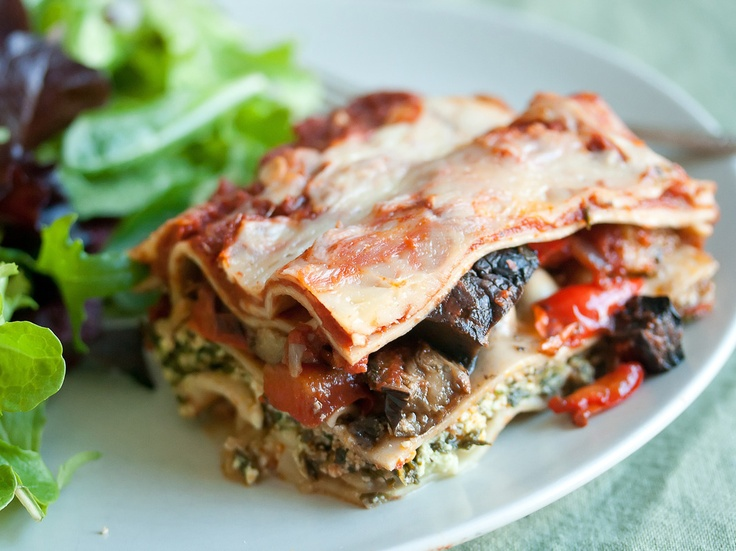 ... more vegetables into my diet.Roasted Vegetable Lasagna by Crumb