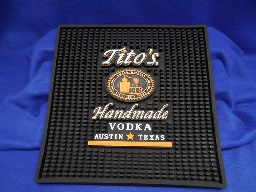 Titos Vodka Heavy Duty Black Rubber Bar Waitress Mat Drink