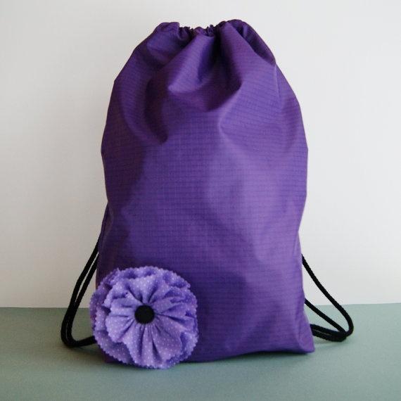 Purple gym bag