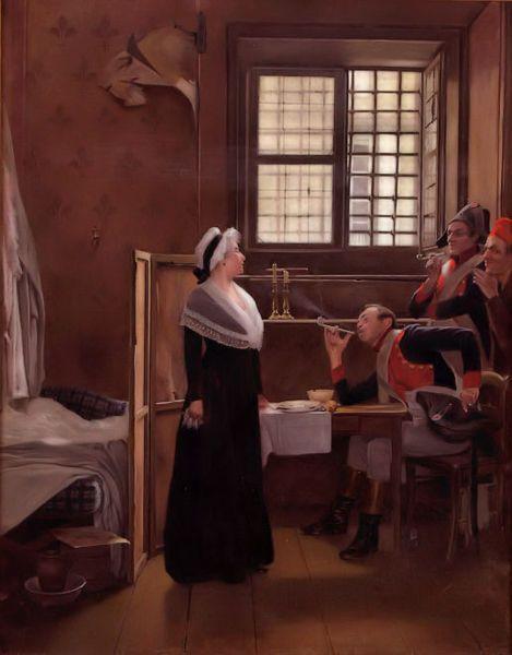 Marie Antoinette under arrest by Oscar Rex