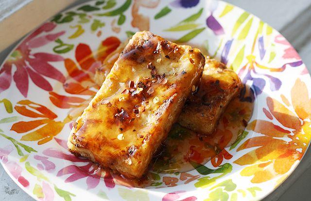 crispy pan fried tofu | Yummy Vegetarian Stuff | Pinterest