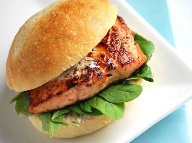 Grilled Salmon Sandwiches with Chipotle Mayo | Recipe
