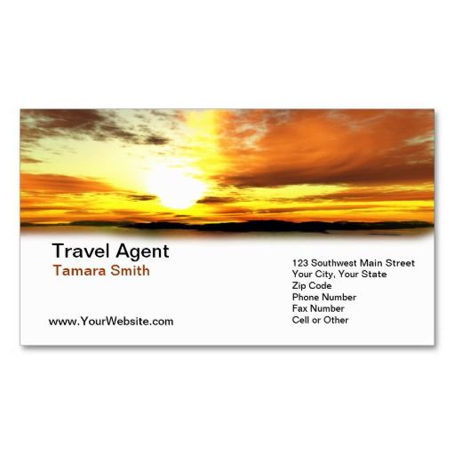 Professional Travel Agent Business Card Templates
