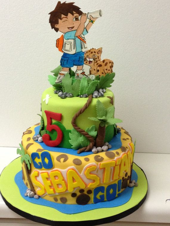 Go diego Go Fondant cake topper by Paolascreations on Etsy, $55.00