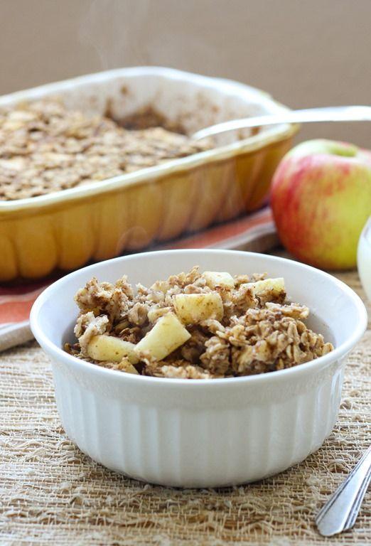 Vegan Baked Apple Cinnamon Oatmeal | Vegan Everything ! | Pinterest