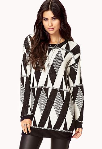 Abstract Zigzag Boyfriend Sweater | FOREVER21 - 2060180301