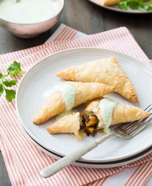 ... & Sweet Potato Empanadas with a creamy lime cilantro dipping sauce