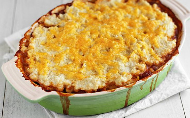Vegan Pueblo Corn Pie. A layered casserole of cooked cornmeal topping ...