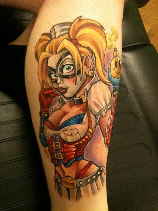 Harley quinn tattoo nerdy girl pinterest for Pin up tattoo ideas
