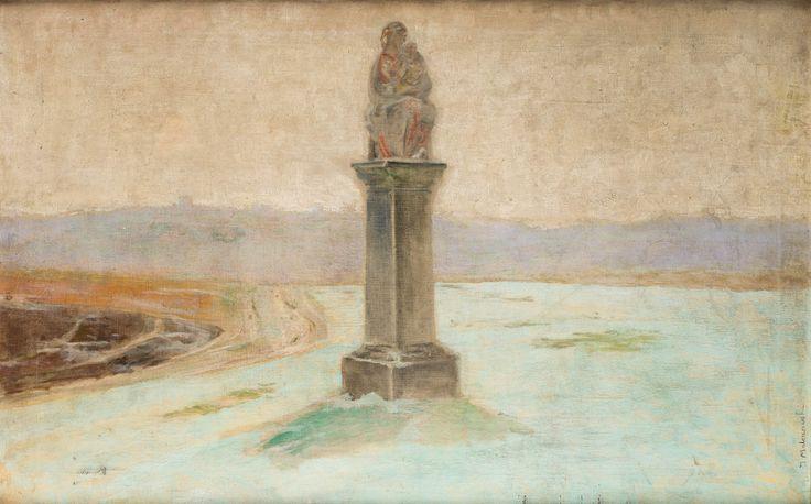 Jacek Malczewski (1854-1929), Przydrożna Madonna; olej, płótno