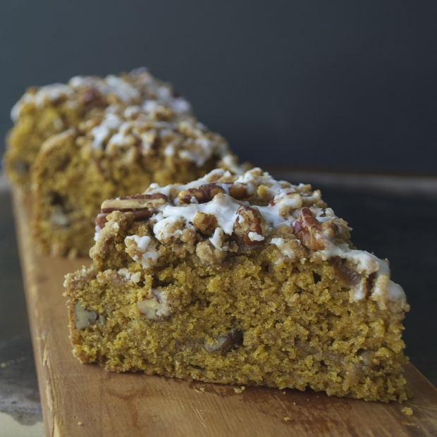 Pumpkin Streusel Coffee Cake. Streusel: 1/3 cup flour, 1/2 cup brown ...