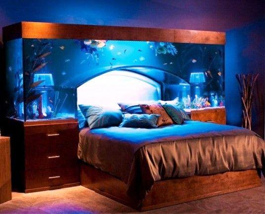 Luxury aquarium decorations for bedroom aquarium design for Luxury fish tanks