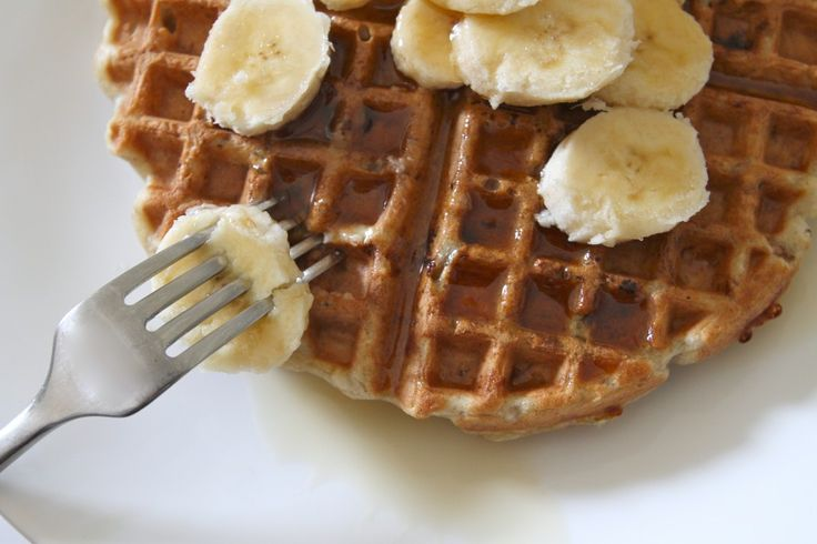 Banana nut waffles. made these this morning - use gluten free flour