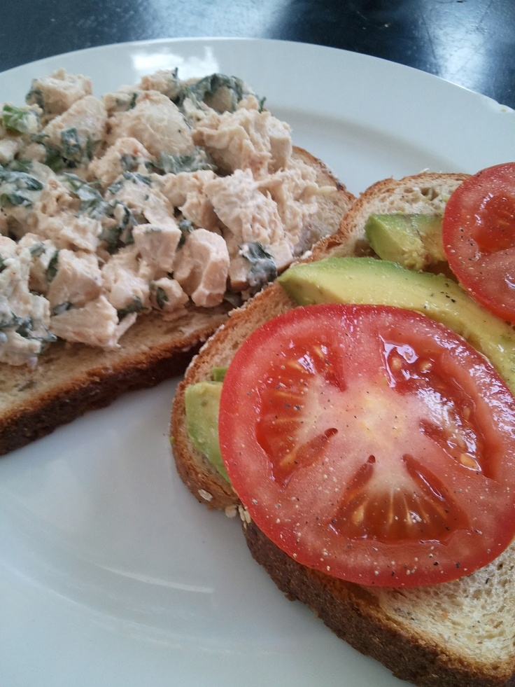 Cilantro Chicken Salad...I want to make this and stuff it into avocado ...