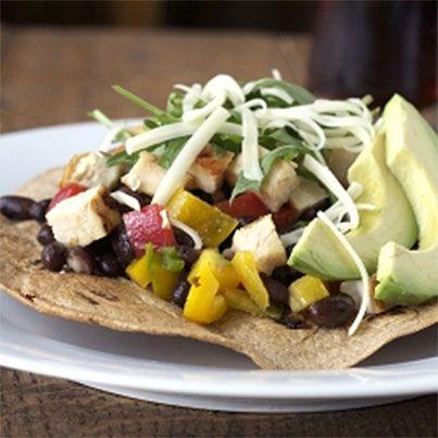 Chicken Tostada Salad | Gluten Free | Pinterest
