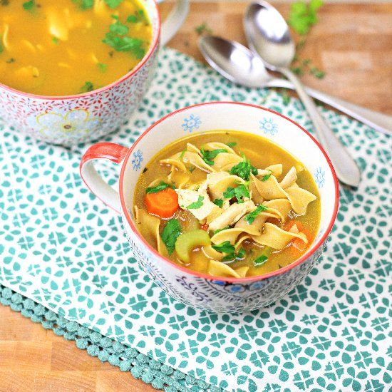 "Vegetarian ""Chicken"" Noodle Soup | Vegan | Pinterest"