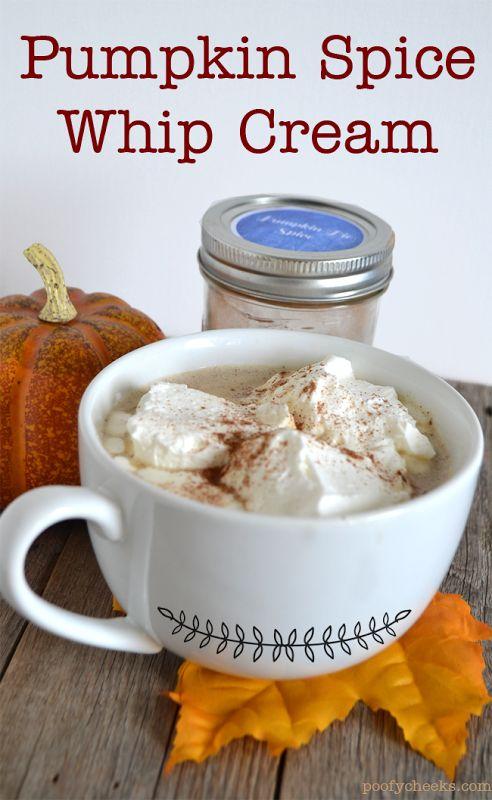 Pumpkin Spice Whip Cream–Pair with a Pumpkin Spice Latte
