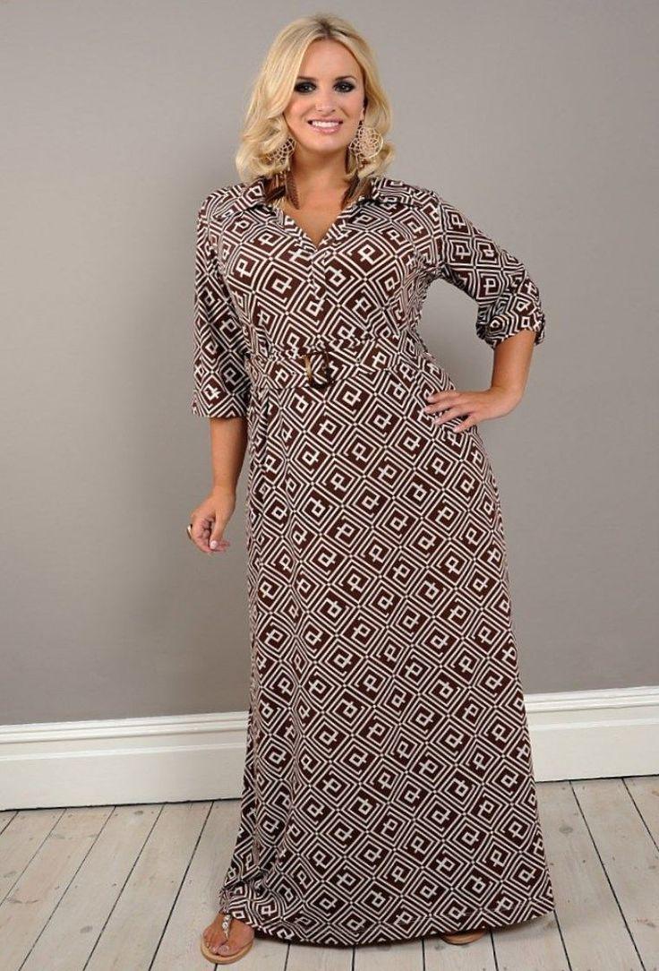 Летнее платье для полной женщины своими руками 34