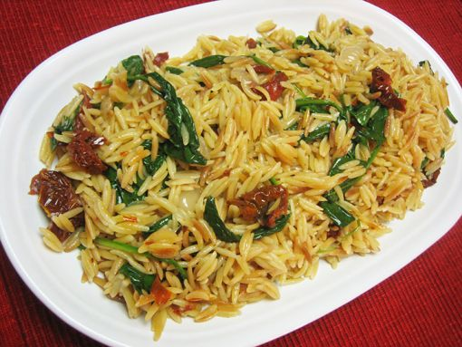 Spinach and Sun-dried Tomato Orzo | Pasta Recipes | Pinterest