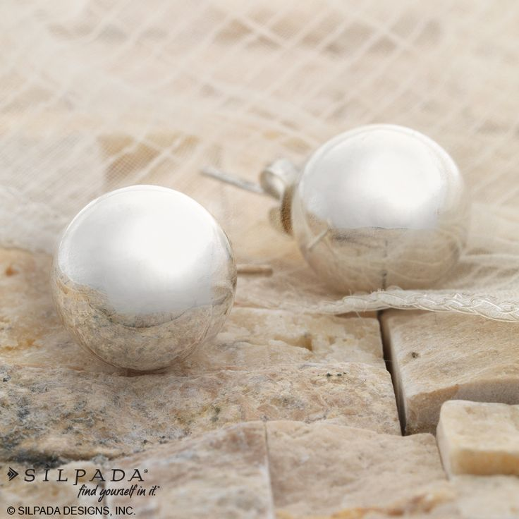 If you take one pair of earrings on vacay, these should be it! Adore-a-ball studs | #SterlingSilver