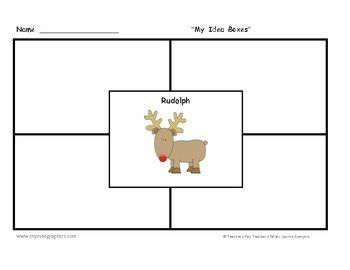 Christmas holiday writing 10 graphic organizers and 10 dotted lined