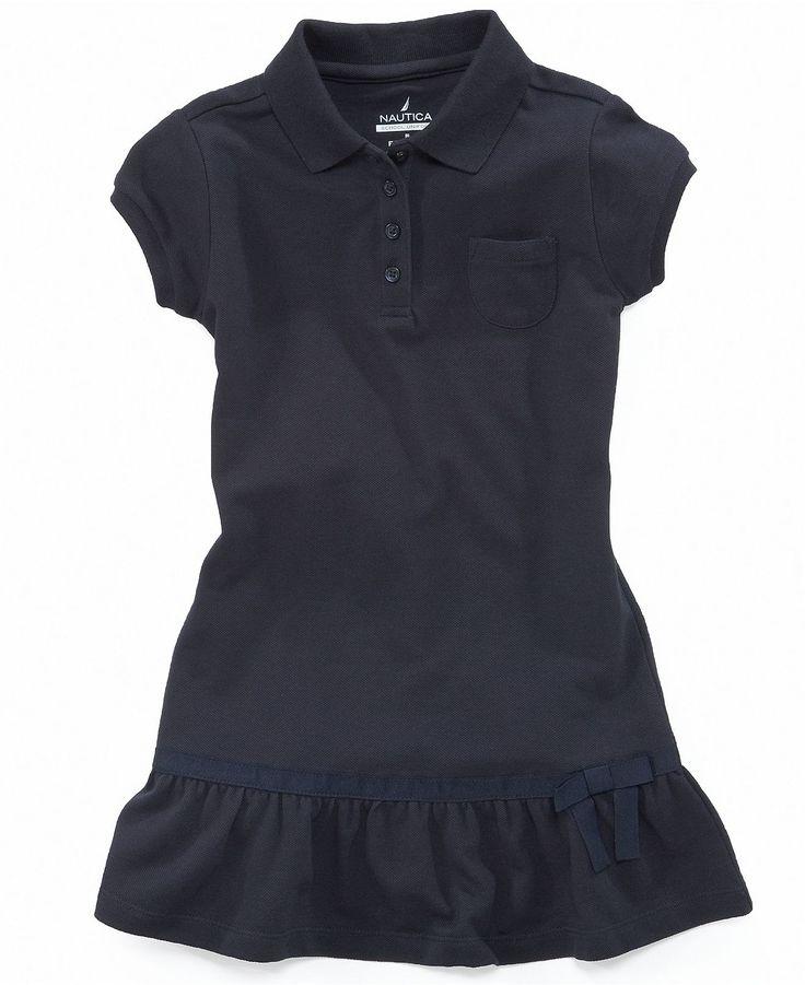 ... Dress, Little Girls Uniform Polo Dress - Kids School Uniforms - Macy's