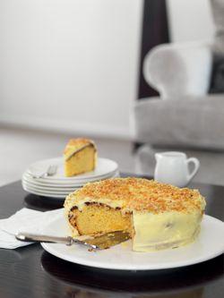 Almond Orange Cake with Mascarpone Icing (& Almond Praline
