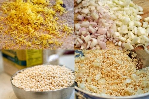 Lemon-Fennel Israeli Couscous Risotto Ingredients